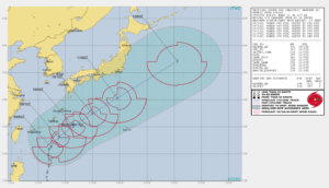 台風5号2018米軍最新進路予想図
