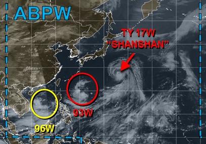 台風14号たまご2018アメリカ米軍進路予想図最新版20180806_1415