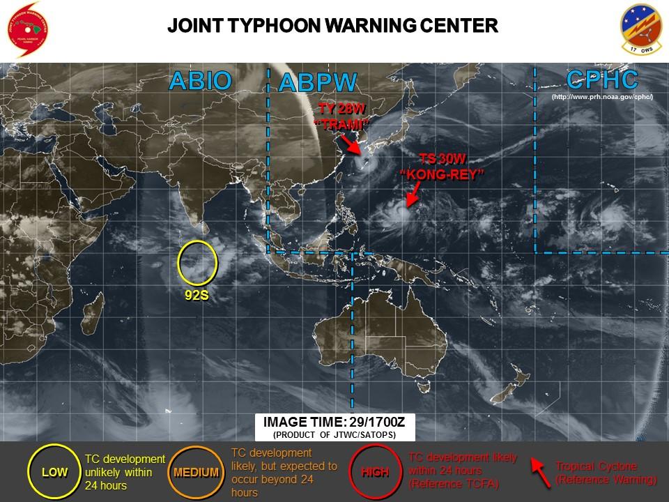 米軍台風最新情報20180930_1400