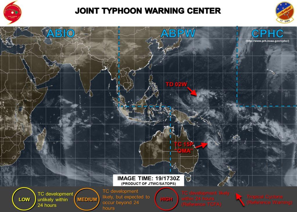 台風2号米軍最新情報20190220_230
